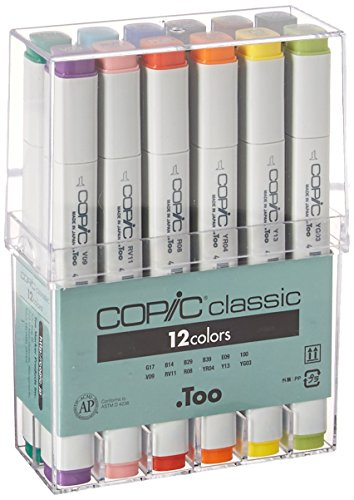Copic Marker 12 Piece Original Basic Marker by Copic Marker