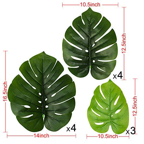 """Woooow 2Pack Artificial Monstera Deliciosa Plant 43"""" Fake Tropical Palm Tree, Perfect Faux Swiss Cheese Plant for Home Garden Office Store Decoration 5"""