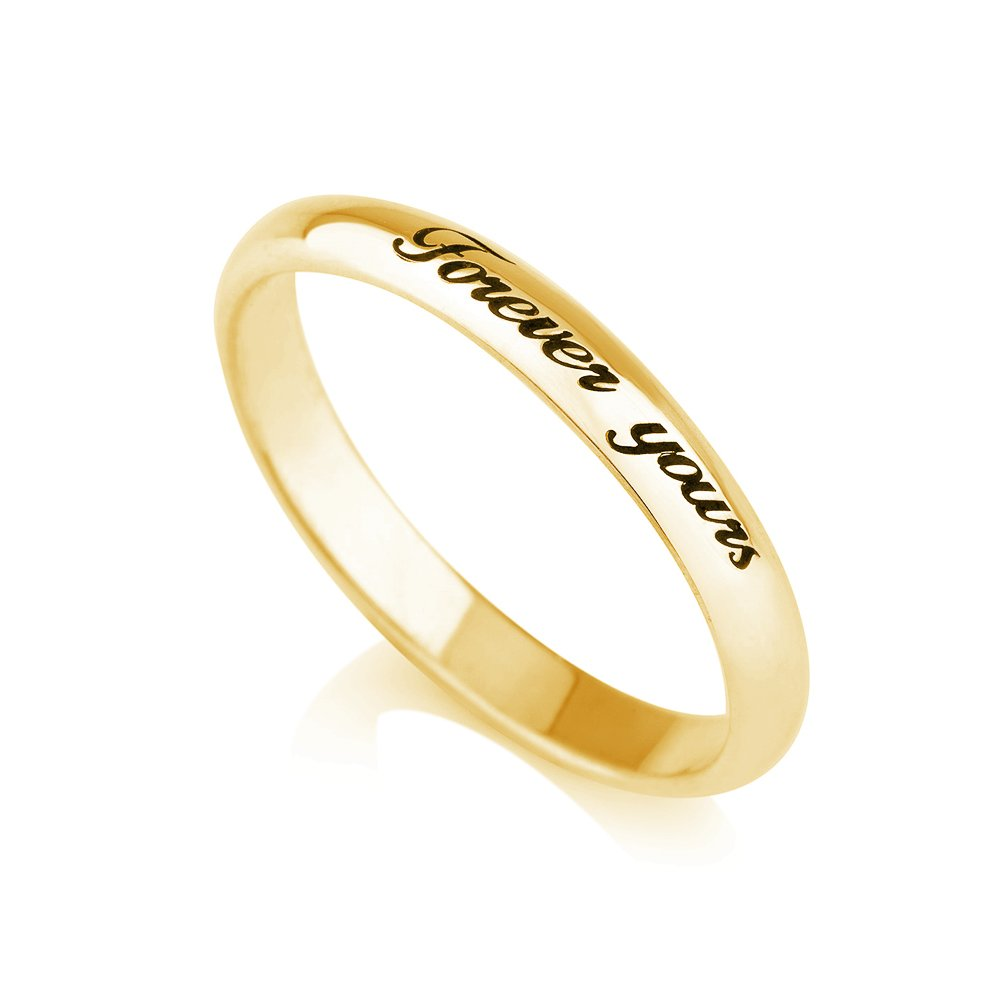 Amazon Com Personalized Purity Ring Engraved Promise Ring Couples