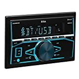 BOSS Audio Elite 480BRGB Double Din, Bluetooth, MP3 USB/SD AM/FM Receiver, Multi Color RGB Illumination, Wireless Remote (No CD/DVD Player)