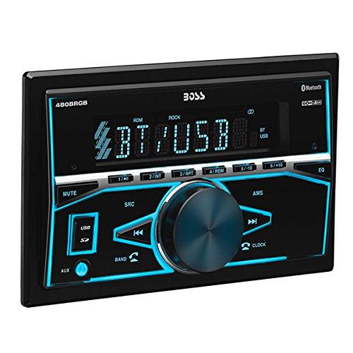 BOSS Audio Elite 480BRGB Double Din, Bluetooth, MP3 USB/SD AM/FM Receiver, Multi Color RGB Illumination, Wireless Remote (No CD/DVD Player) by BOSS Audio