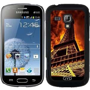 Funda para Samsung Galaxy Trend S7560 - Torre Eiffel En El Fuego by Gatterwe