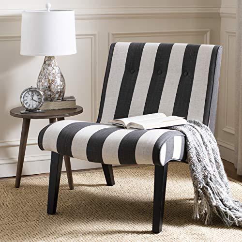Safavieh Mercer Collection Mandell Black & White Chair, Standard