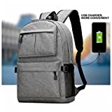 Fashion Anti-theft Laptop Notebook Backpack With USB Charging Port School B ....