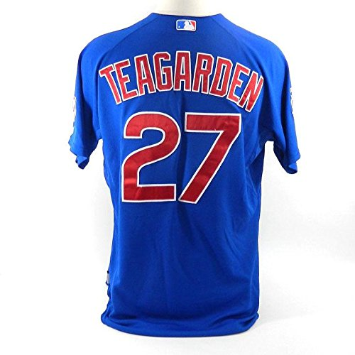 finest selection ff59f e5727 60%OFF 2015 Chicago Cubs Taylor Teagarden #27 Game Issued ...