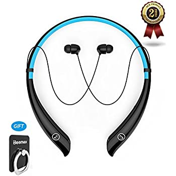 Bluetooth Headphones Wireless Neckband Headset Stereo Noise Cancelling Earbuds HV-930 V4.1 Stereo Earphones (Black- Blue)