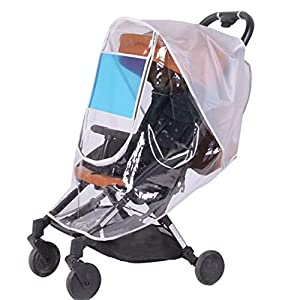 Universal Baby Stroller Weather Shield,Sunshade,Rain Cover,Breathable,Waterproof Umbrella Stroller Wind Dust Shield Cover for Strollers