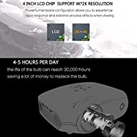 ZUKN Proyector Portátil Altavoz Incorporado Full HD 4K * 2K 3200 ...