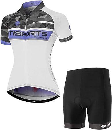 Lilongjiao Jersey de Ciclismo para Mujer Ropa de Bicicleta ...