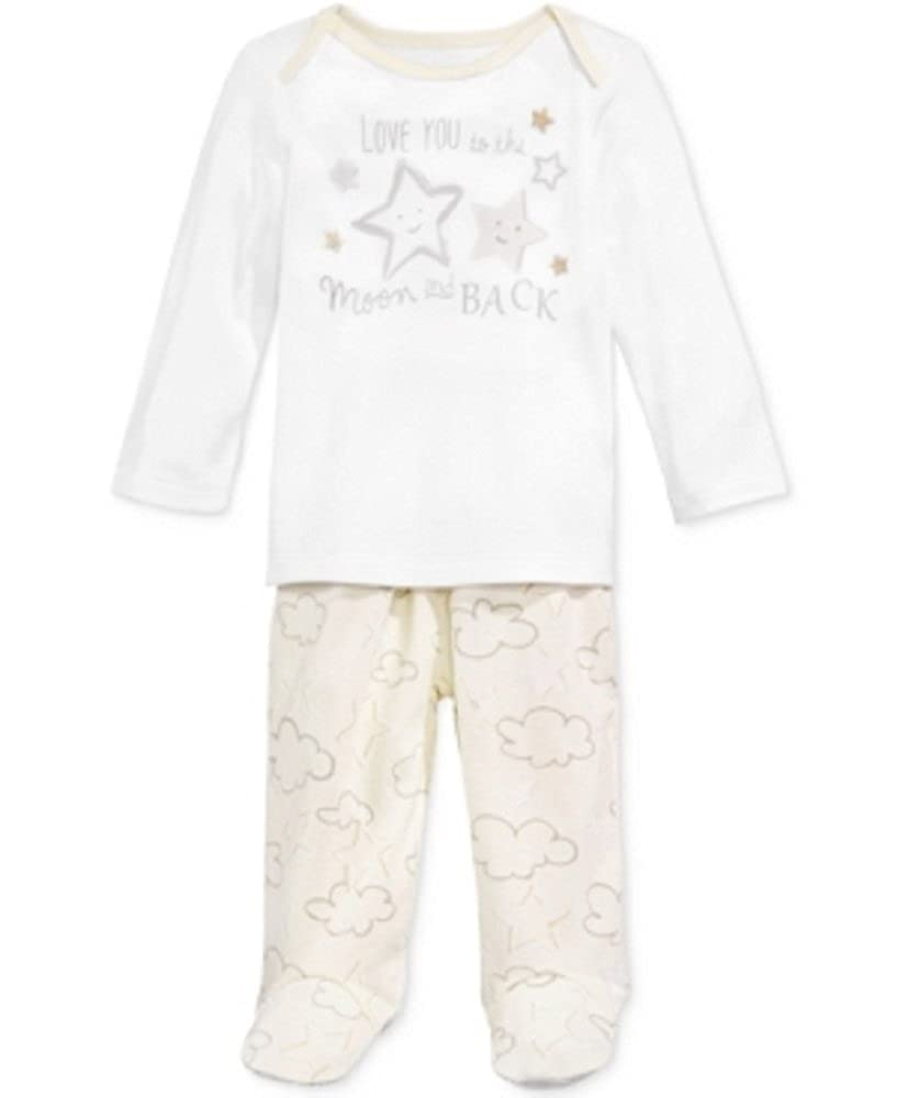 to The Moon Top /& Footed Pants Set Newborn First Impressions 2-Pc