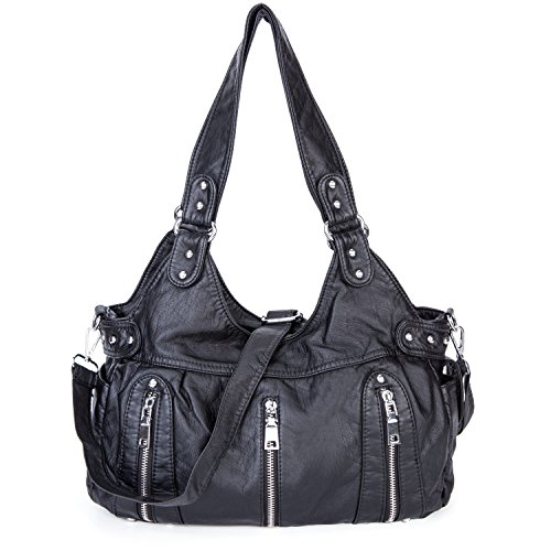 Washed Leather Hobo - 3
