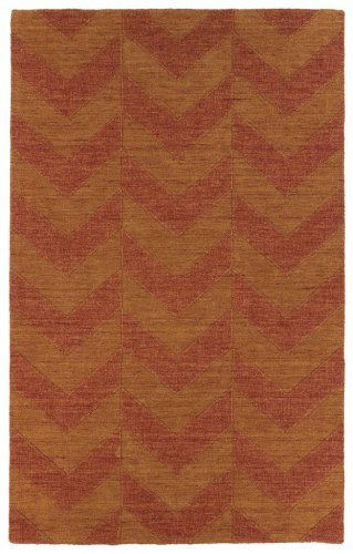 (Kaleen Rugs Imprints Modern Hand-Tufted Area Rug, Paprika, 3' 6