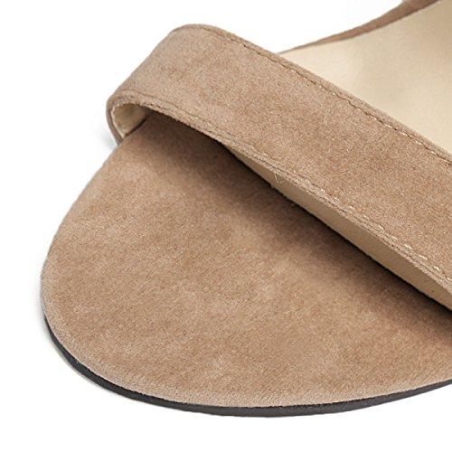 Quaste Reißverschluss Hochhackige Sandalen Beige