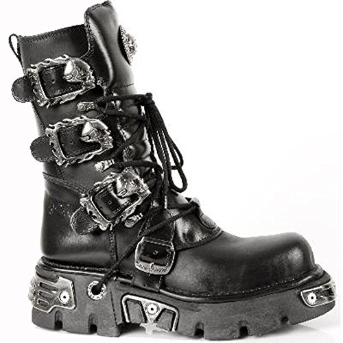 391 Black Boots Mettalic M Rock Black Leather S1 Men's New qBW0Twc7