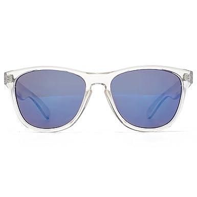 960bed84f48f M:UK Shoreditch Keyhole Bridge Sunglasses in Crystal Clear MUK147840: Amazon .co.uk: Clothing