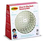 Edushape Glow In The Dark Sensory Ball, 7 Inch