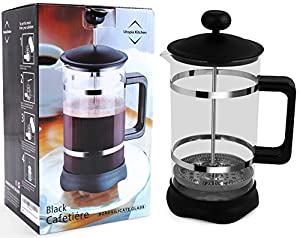 French Press - French Press Coffee Maker - Easy to Disassemble - Easy to Clean - Chrome & Black (Black) - Utopia Kitchen