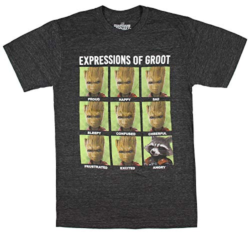 Universe Tri Blend T-shirt - Marvel Guardians of The Galaxy Expression of Groot Adult Men's T-Shirt (X-Large)