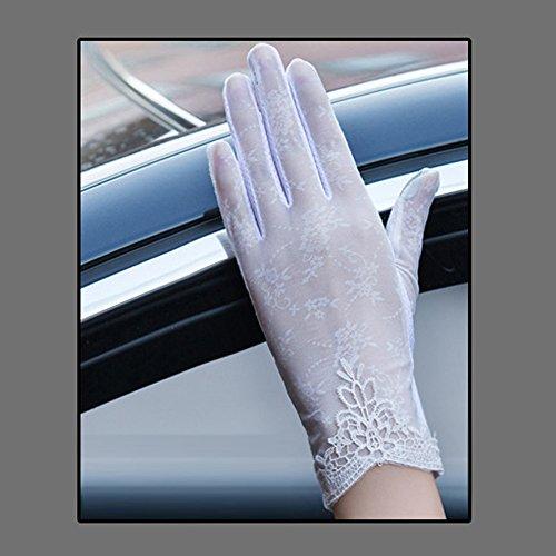 Coio 女性手袋 レディースUVカット レース 薄手日焼け防止 紫外線カット ブライダル手袋(スタイル18))