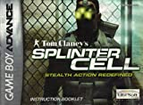 Tom Clancy's Splinter Cell - Stealth Action Redefined GBA Instruction Booklet (Game Boy Advance Manual ONLY-NO GAME) Pamphlet only! GAME IS NOT INCLUDED (Nintendo Game Boy Advance Manual)