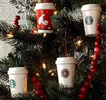 Amazon.com: Starbucks Holiday Christmas Ornament 2011 Coffee Cups ...