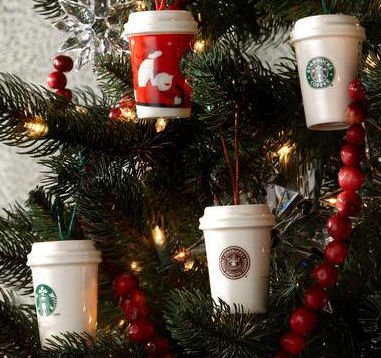 Starbucks Holiday Christmas Ornament 2011 Coffee Cups Mugs, Pack of 4 - Amazon.com: Starbucks Holiday Christmas Ornament 2011 Coffee Cups