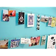Cable to Display Kids' Artwork, Perfect for Hanging Pictures Artwork Display Notes ,Curtain Wire, wall fixtures and Clips (1)