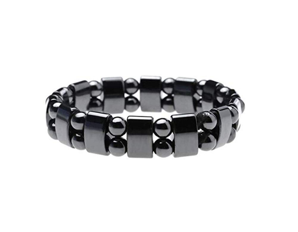 Magnetic Hematite Bracelet for Men Women, Metal Magnetic Therapy Bracelets for Arthritis Pain Relief and Sports Related