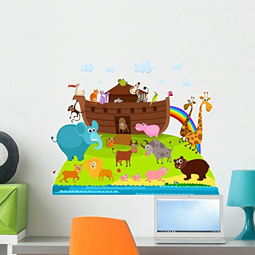 - Wallmonkeys WM329039 Noahs Ark Peel and Stick Wall Decals (24 in W x 19 in H), Medium