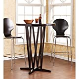 "Southern Enterprises Devon 43"" Bar Table, Dark Espresso Finish with Grain Patterns"