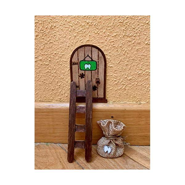 Puerta Ratón Pérez mágica. Regalo original niño niña Ratoncito Pérez. Hecho a mano en España 4