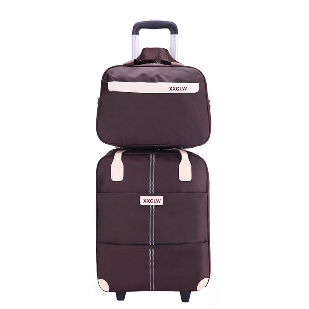 Handbag Waterproof SunHai Son and Mother Trolley Bag Trolley Bag Color : Brown, Size : 35L Sun Protection Can Be Boarded Luggage Bag Item Storage Bag Shoulder Bag