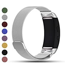 Samsung Gear Fit2/Gear Fit 2 PRO Smart Watch Replacement Band,Feskio Magnet Lock Stainless Steel Milanese Loop Metal Replacement Watchband Bracelet Wrist Strap for Gear Fit2 SM-R360 and Gear Fit 2 PRO