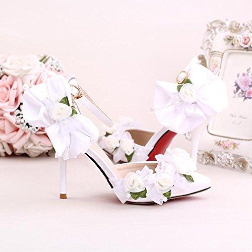 Si Hochzeitsschuhe der Frauen / Brautjungfer und Braut / Perle Blume / Stiletto Ferse / Spitzzehe / High-heels...