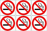 "Rogue River 3"" Pack of 6 No Smoking Sticker Sign Decal Indoor Outdoor Window Door No Cigarette Smoker (3"" Pack of 6)"
