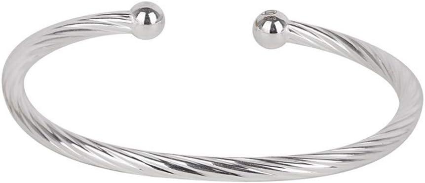 TTXLY Brazalete de bebé 925 Cable de Plata Pulsera Brazalete de bebé recién Nacido Twisted Elegante diseño del Regalo de Bautizo