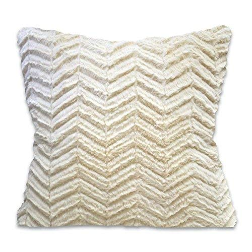 Regal Comfort Sherpa Faux Fur Accent Pillow (Cutwork Beige)