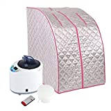 Detachable Portable 2L Steam Sauna Spa Home Tent Pot Machine Slimming Weight Loss Therapy Wireless Remote Control