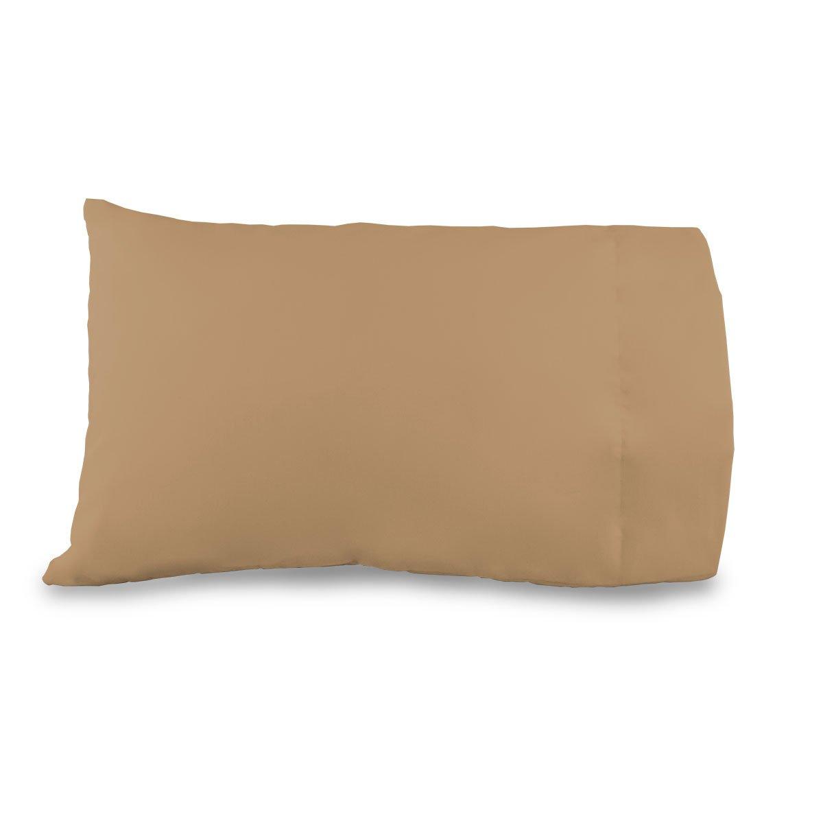 12x18 Pillowcase Travel/Toddler size 100% cotton Color: Camel