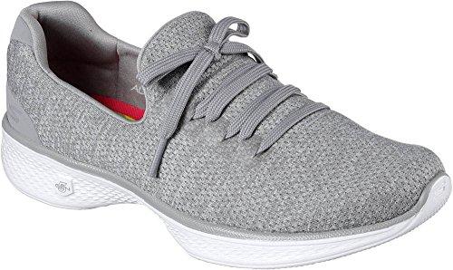 Skechers Women's GOwalk 4 All Day Comfort Walking Sneaker,Gray,US 7.5 W