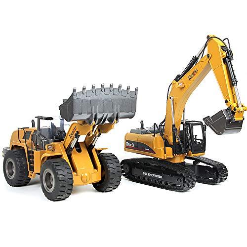 Huina 580 rc Excavator Huina 583 Wheel Loader Combo Construction Model ()