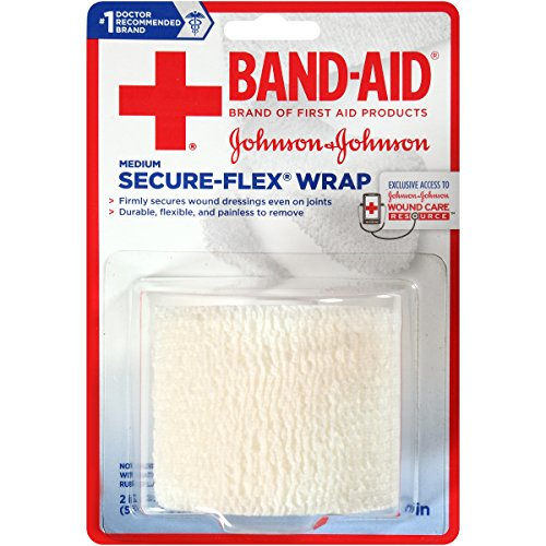 Band-Aid Brand Of First Aid Products Secure-Flex Minor Wound Care Wrap, 2 Inches By 2.5 Yards (Pack of 4)