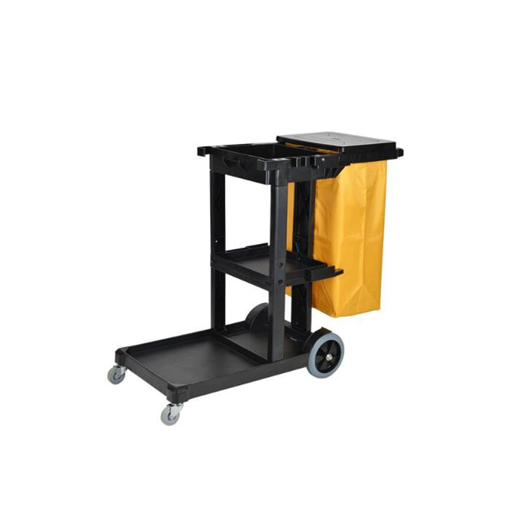 LPYMXIndoor Environmental Trash can Function Hotel Hotel Cleaning car, Trolley Commercial Cleaning Tool cart Garbage Truck