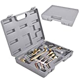 10 PCS Gas Welding & Cutting Kit Oxygen Torch Acetylene Welder Tool Set w/ Case - By Choice Products