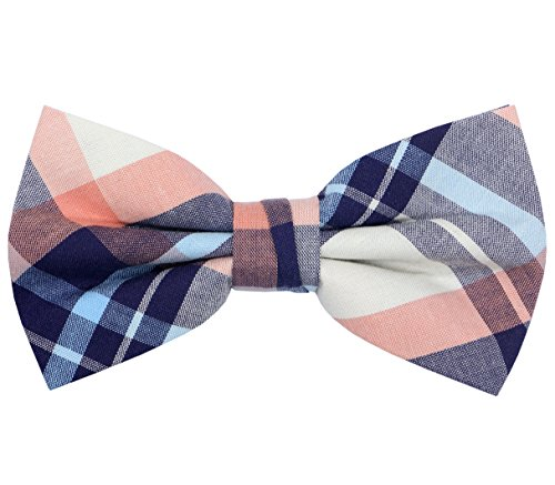 - OCIA Mens Cotton Plaid Handmade Bow Tie -OM56