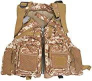 Amairne-Made Boat Kayak Yacht Vest Travel Waistcoat Fishing Jacket Muti-Pocket Life Vest