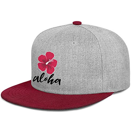 Aloha Festival Celebrate Tropical Flower Unisex Stylish Hip Hop Trucker Cap Fitted Snapback Hat Sport Cap One Size