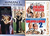 DVD : Presidential Family Comedy DVD Bundle: The American President / Dave + Cheaper by the Dozen / Steve Martin Cheaper by the Dozen Part 2 (4 Movie Pack)