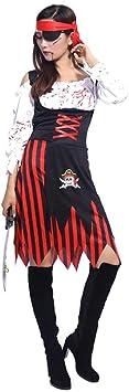 Disfraz de Halloween para mujer de pirata caribeña, disfraz para ...