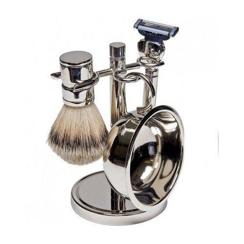 Wet Shaving Kit Shave Razor Badger Brush Stand Soap Bowl Pure Man Hair Mug Set